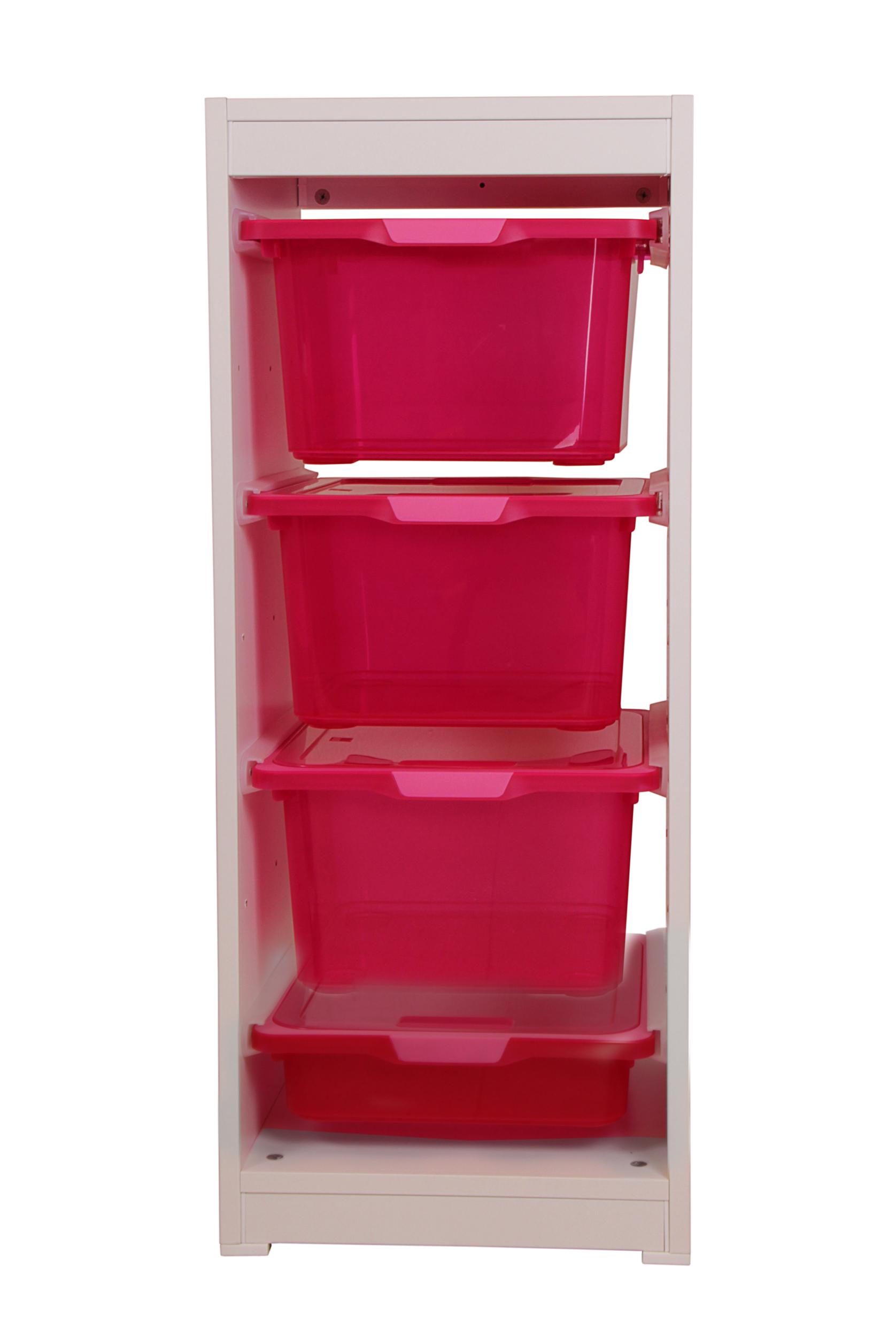 ondis24 kreo regal hoch fuchsia mit 4 schubl den 17 5 liter fuchsia g nstig online kaufen. Black Bedroom Furniture Sets. Home Design Ideas
