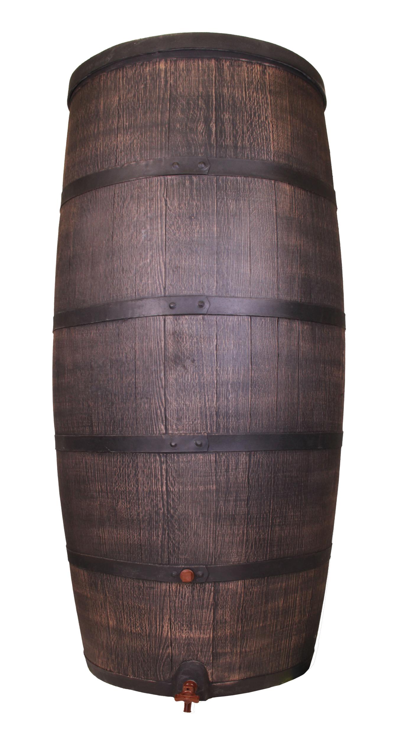 regentonne wasserbeh lter regenwasser fass eichenfass optik 500 liter mit deckel ebay. Black Bedroom Furniture Sets. Home Design Ideas