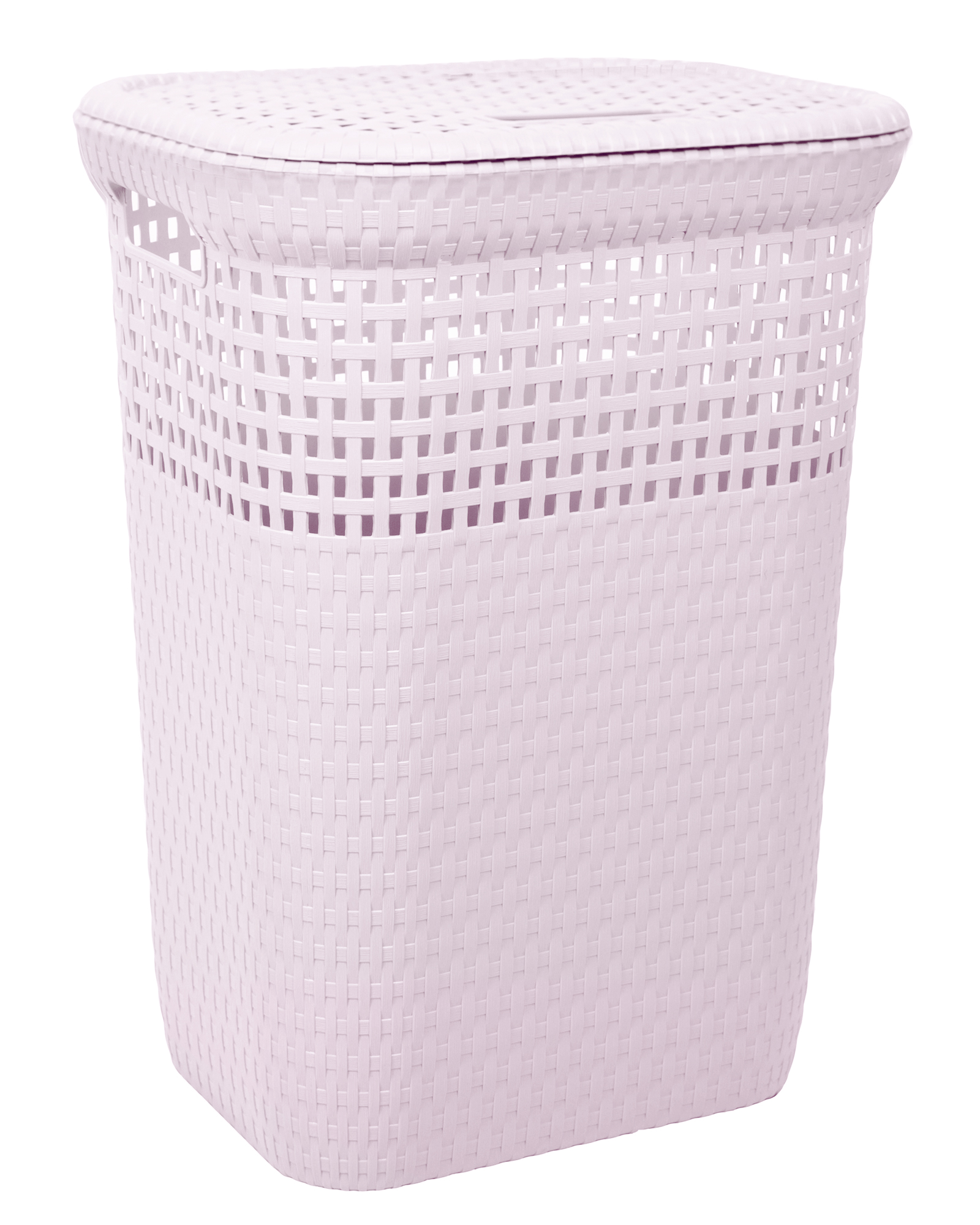 Ondis24 Wäschekorb Rattan 60 L rosa günstig online kaufen