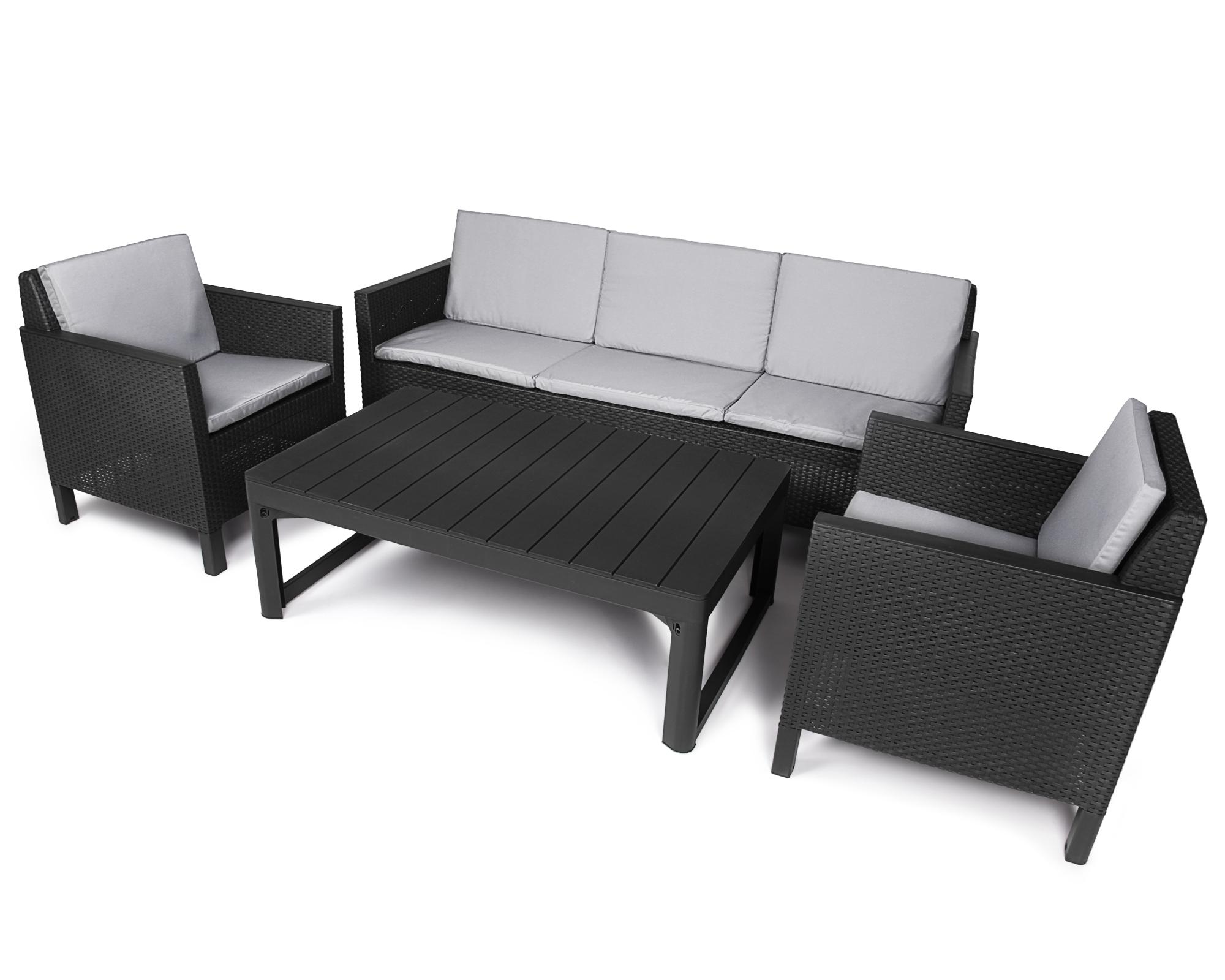 garten loungemobel tisch hohenverstellbar verschiedene