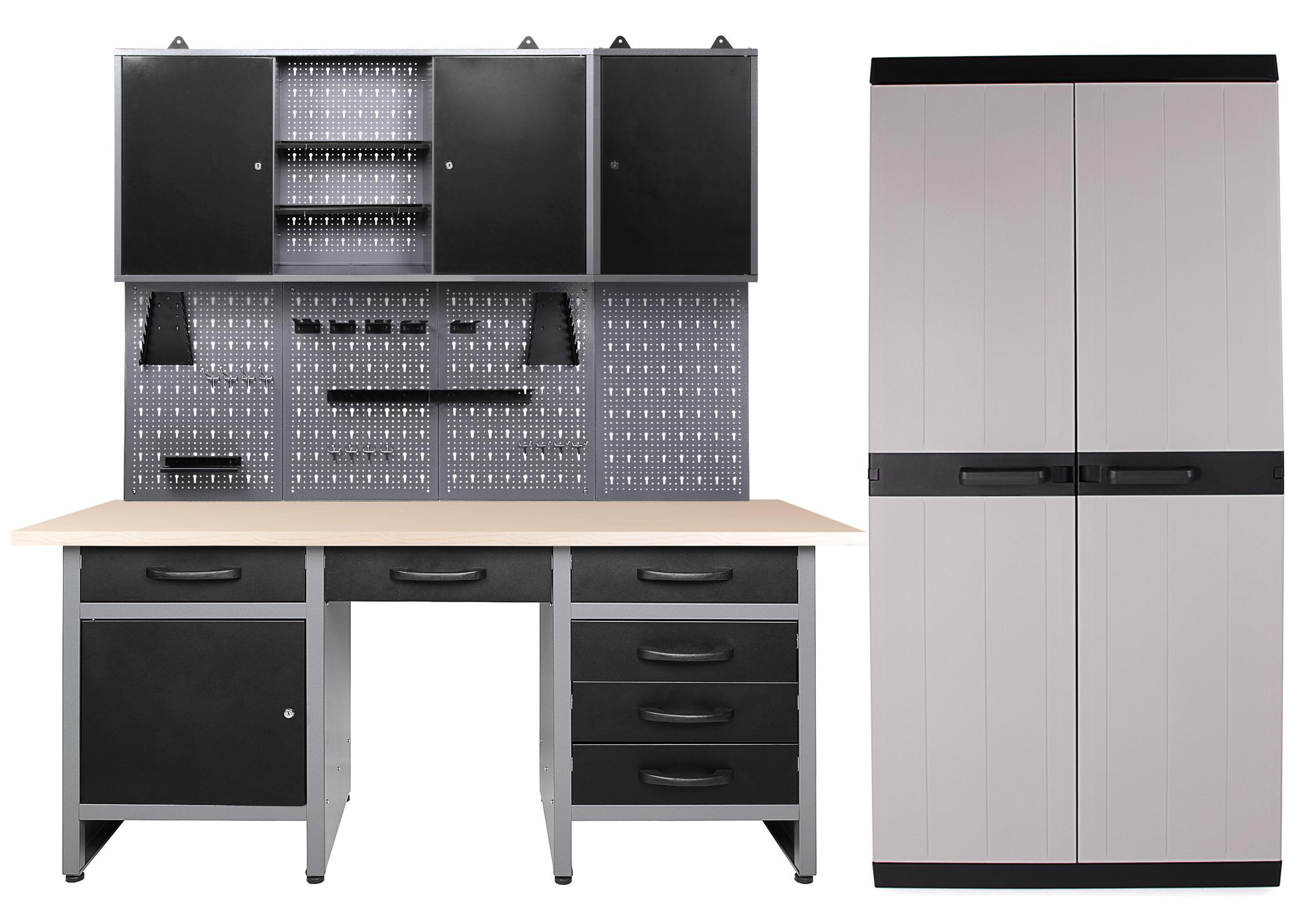Ondis24 Werkstatt Harry 2 Schränke offen + Comfort XL Schrank ...