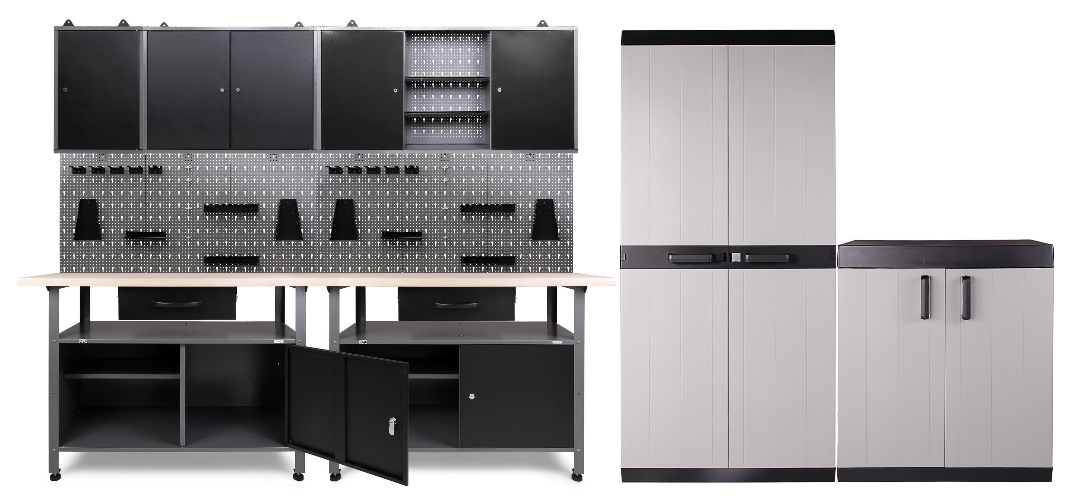 Ondis24 Werkstatt Klaus 3 Schränke + Comfort XL Schrank + Beistell ...