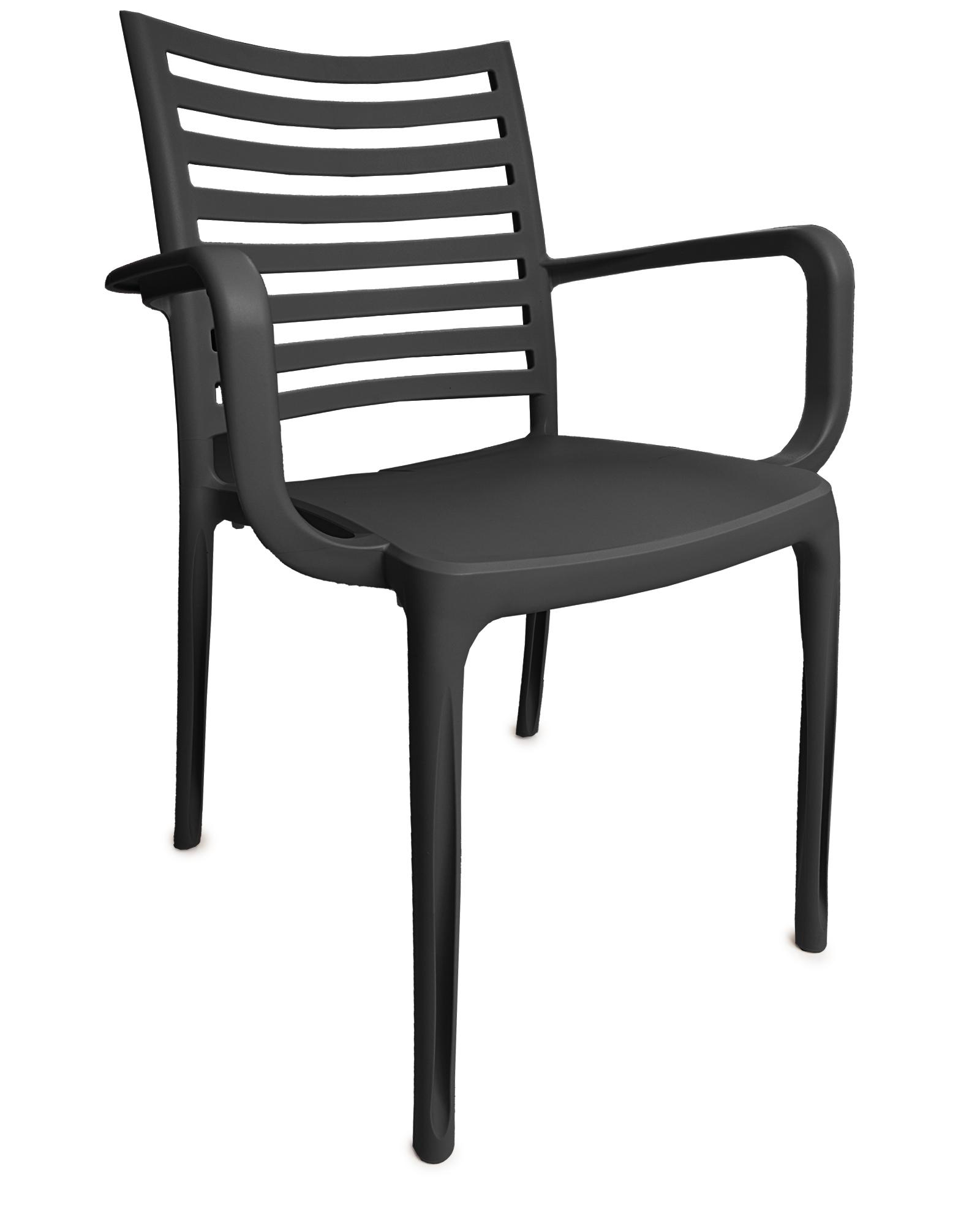 Ondis24 Gartensessel Klappsessel Fidji Kunststoff bequeme Sitzfläche stapelbar