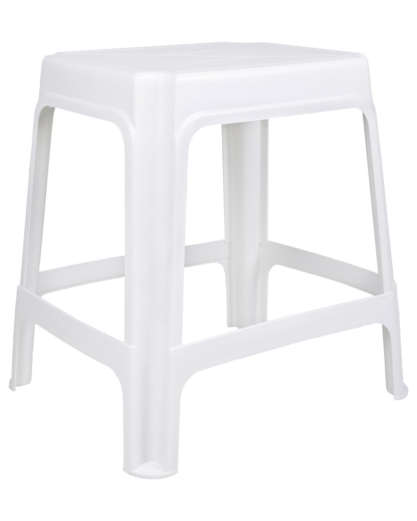 hocker sitzhocker badhocker gartenhocker kunststoffhocker stapelbar wei ebay. Black Bedroom Furniture Sets. Home Design Ideas