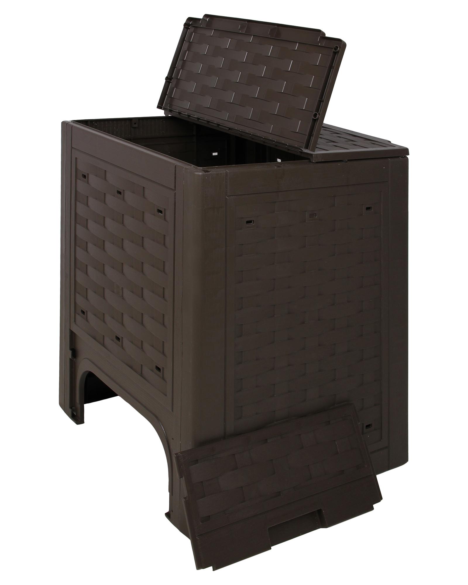 ondis24 komposter kompost rattan kunststoff braun g nstig. Black Bedroom Furniture Sets. Home Design Ideas