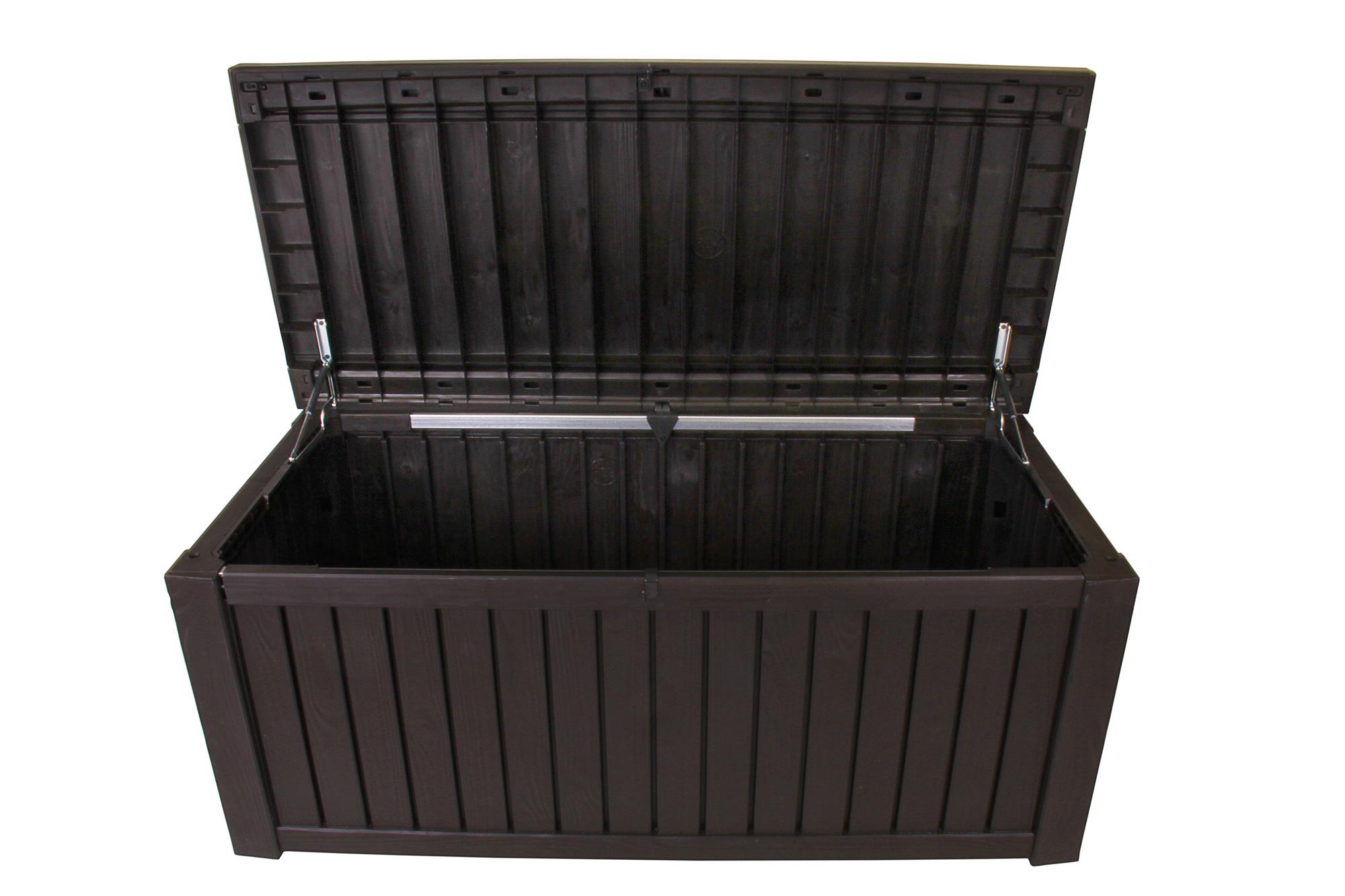 Kettler Gartenmobel Stapelsessel :  Kissenbox Rockwood Auflagenbox Sitztruhe braun jetzt günstig kaufen[R