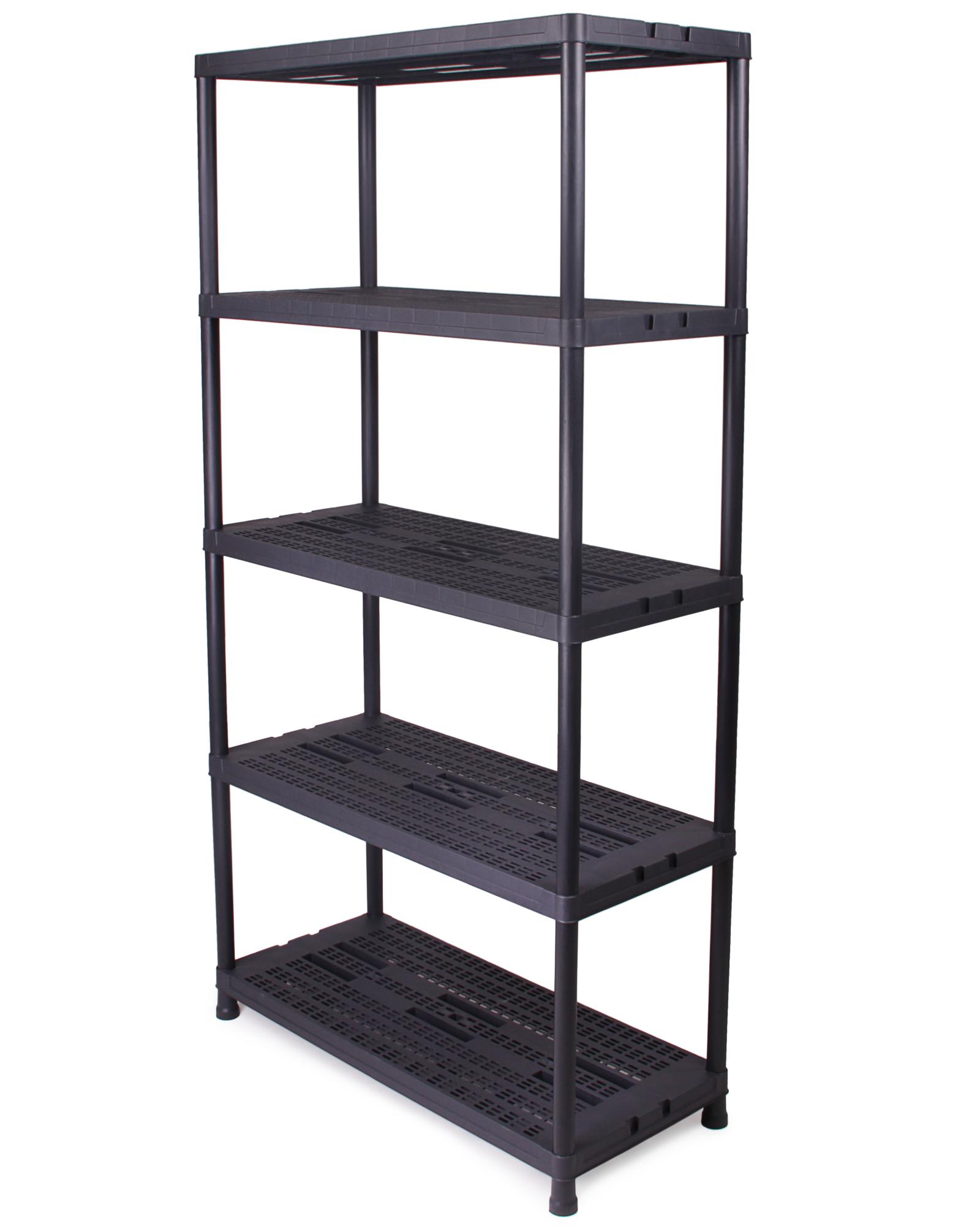 ondis24 kunststoffregal steckregal schwerlastregal schwarz 90 cm g nstig online kaufen. Black Bedroom Furniture Sets. Home Design Ideas