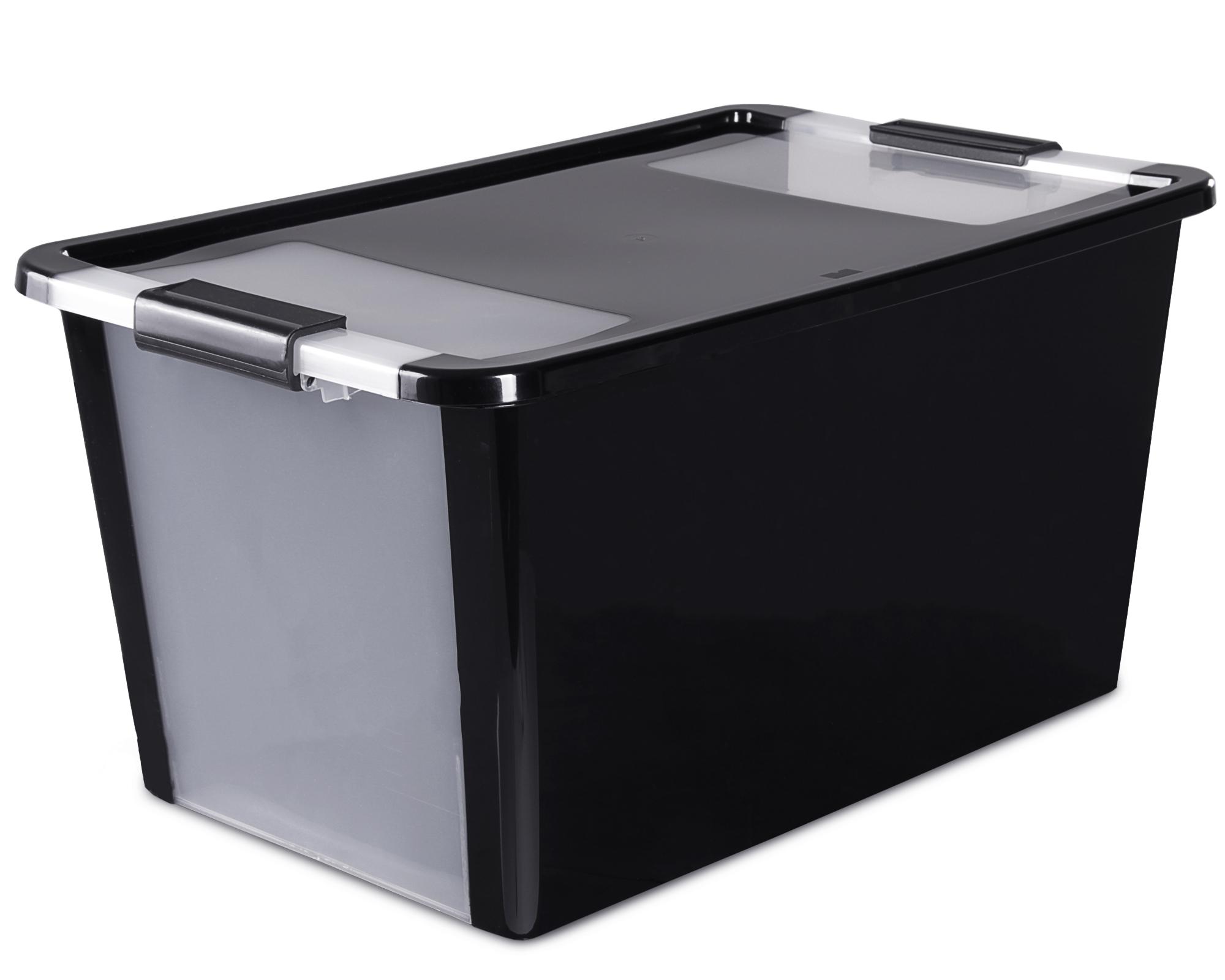 ondis24 aufbewahrungsbox klipp box l schwarz g nstig online kaufen. Black Bedroom Furniture Sets. Home Design Ideas