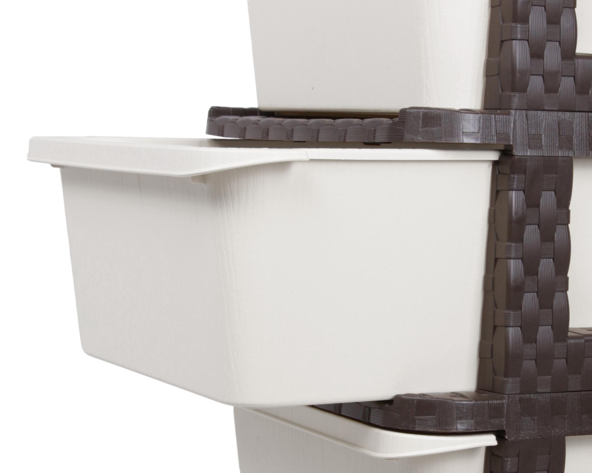 ondis24 schubladenschrank rattan tower 4 schubladen braun. Black Bedroom Furniture Sets. Home Design Ideas