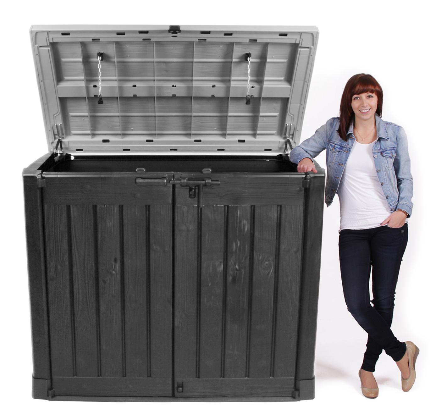 ondis24 keter mülltonnenbox gartenbox max kunststoff anthrazit