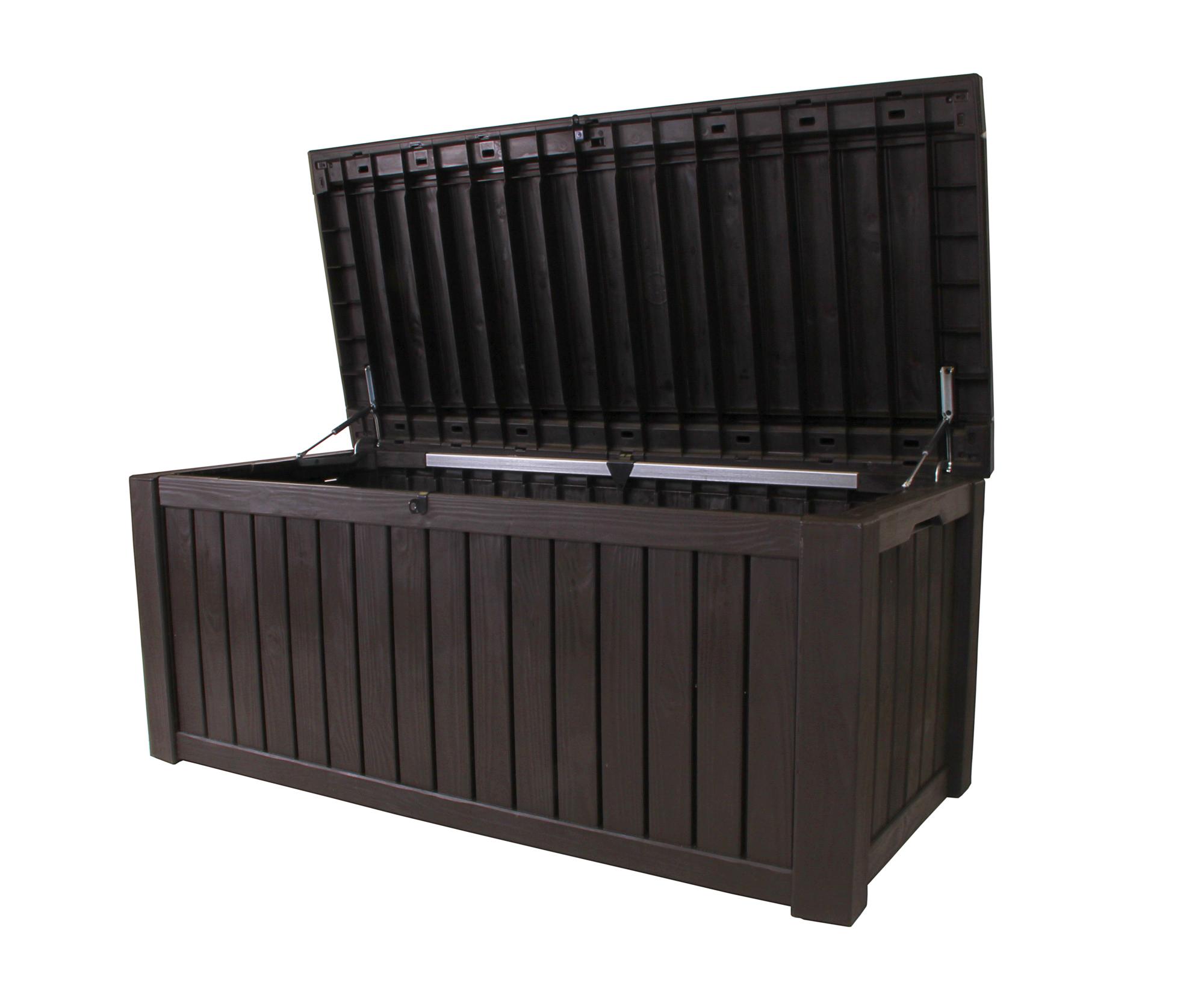 Kettler Gartenmobel Stapelsessel :  Kissenbox Rockwood Auflagenbox Sitztruhe braun jetzt günstig kaufen