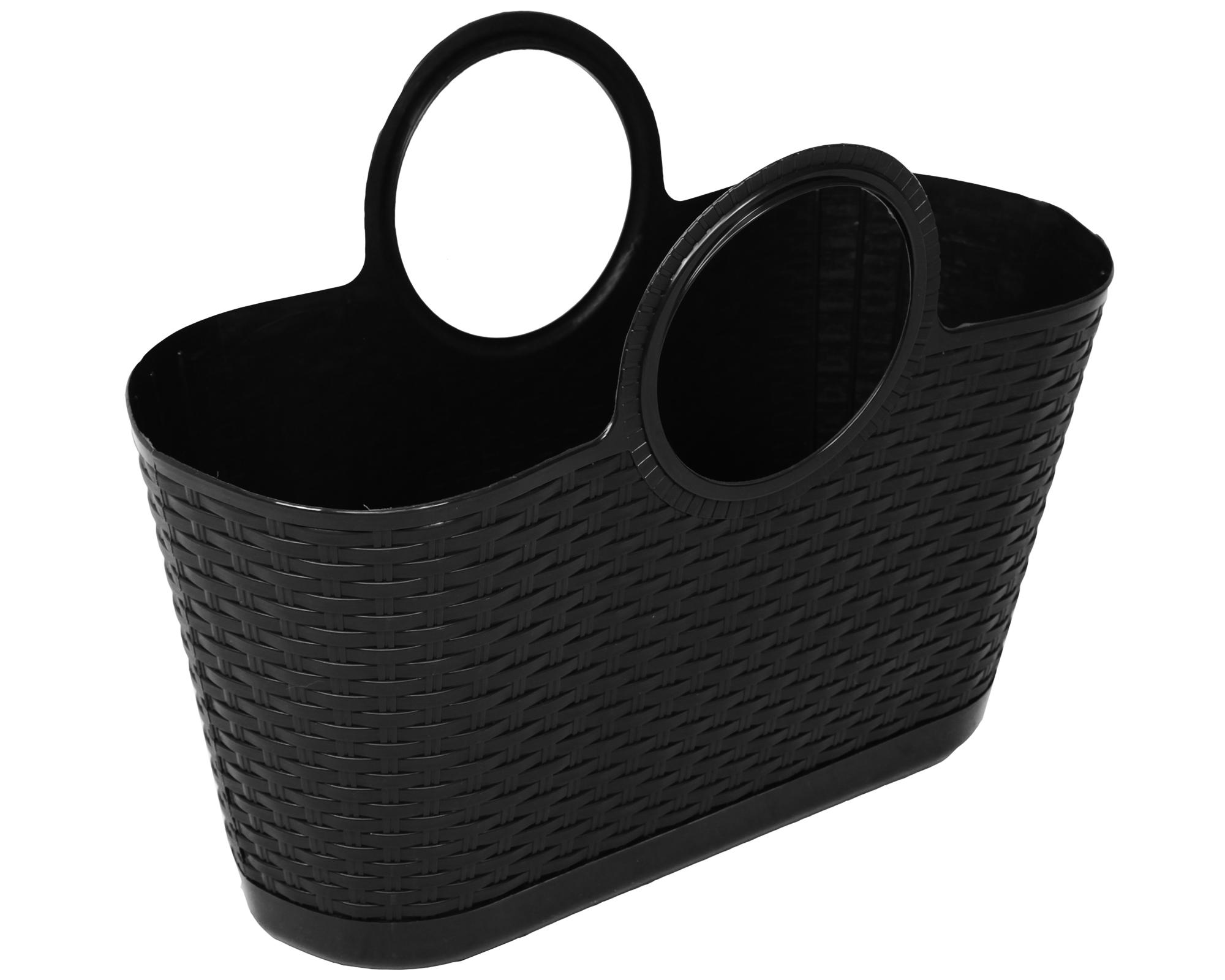 Ondis24 strandtasche einkaufskorb rattan anthrazit g nstig online kaufen for Rattan loungemobel anthrazit