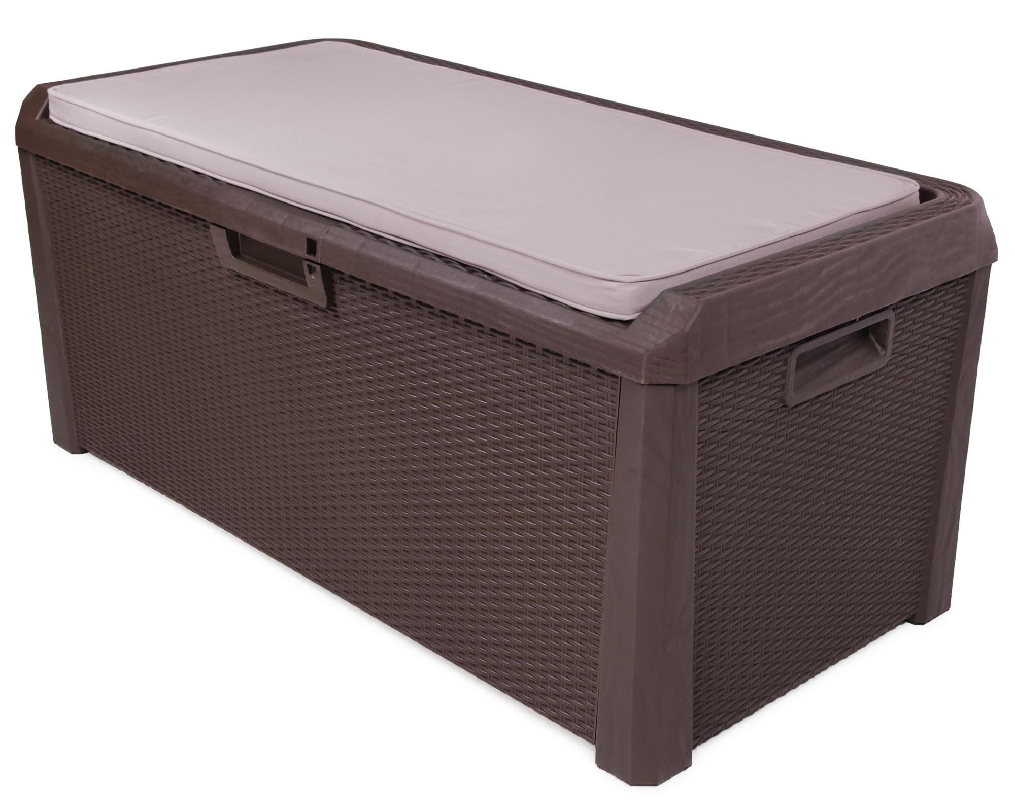 ondis24 kissenbox auflagenbox santo plus mit sitzkissen 560 l braun g nstig online kaufen. Black Bedroom Furniture Sets. Home Design Ideas