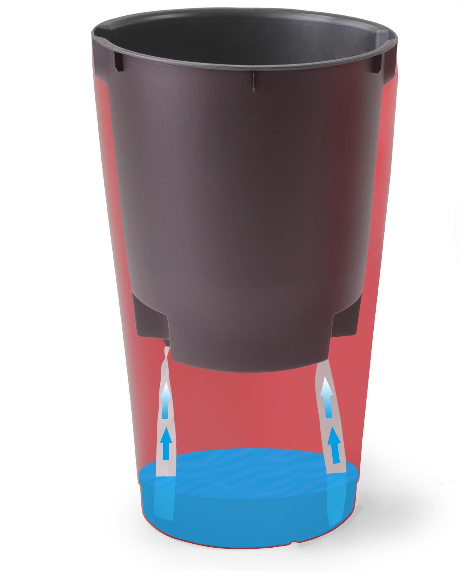 ondis24 rio blumentopf vase 50cm mit wasserspeicher. Black Bedroom Furniture Sets. Home Design Ideas