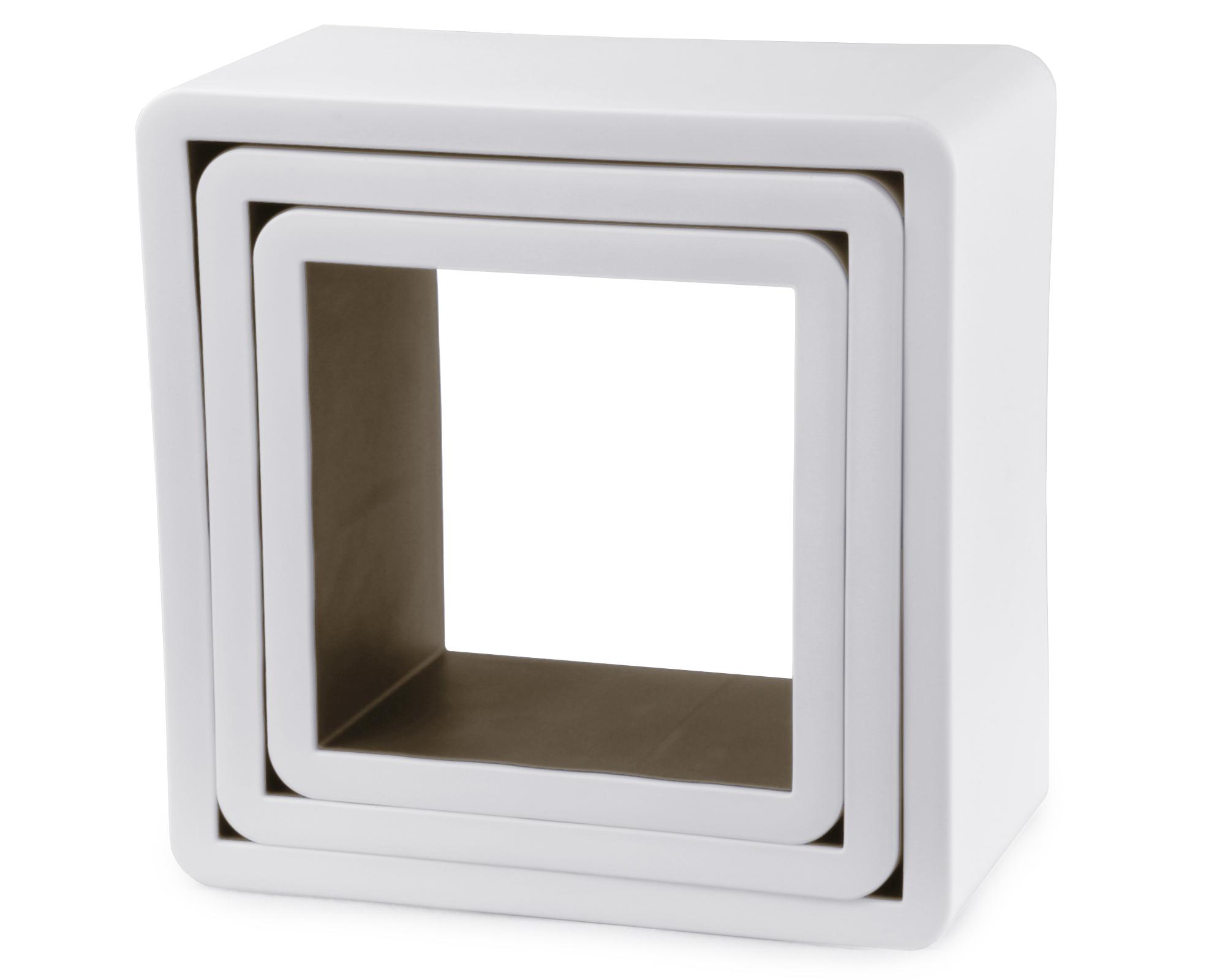 ondis24 regal wandregal wei 3er set b cherregal g nstig. Black Bedroom Furniture Sets. Home Design Ideas