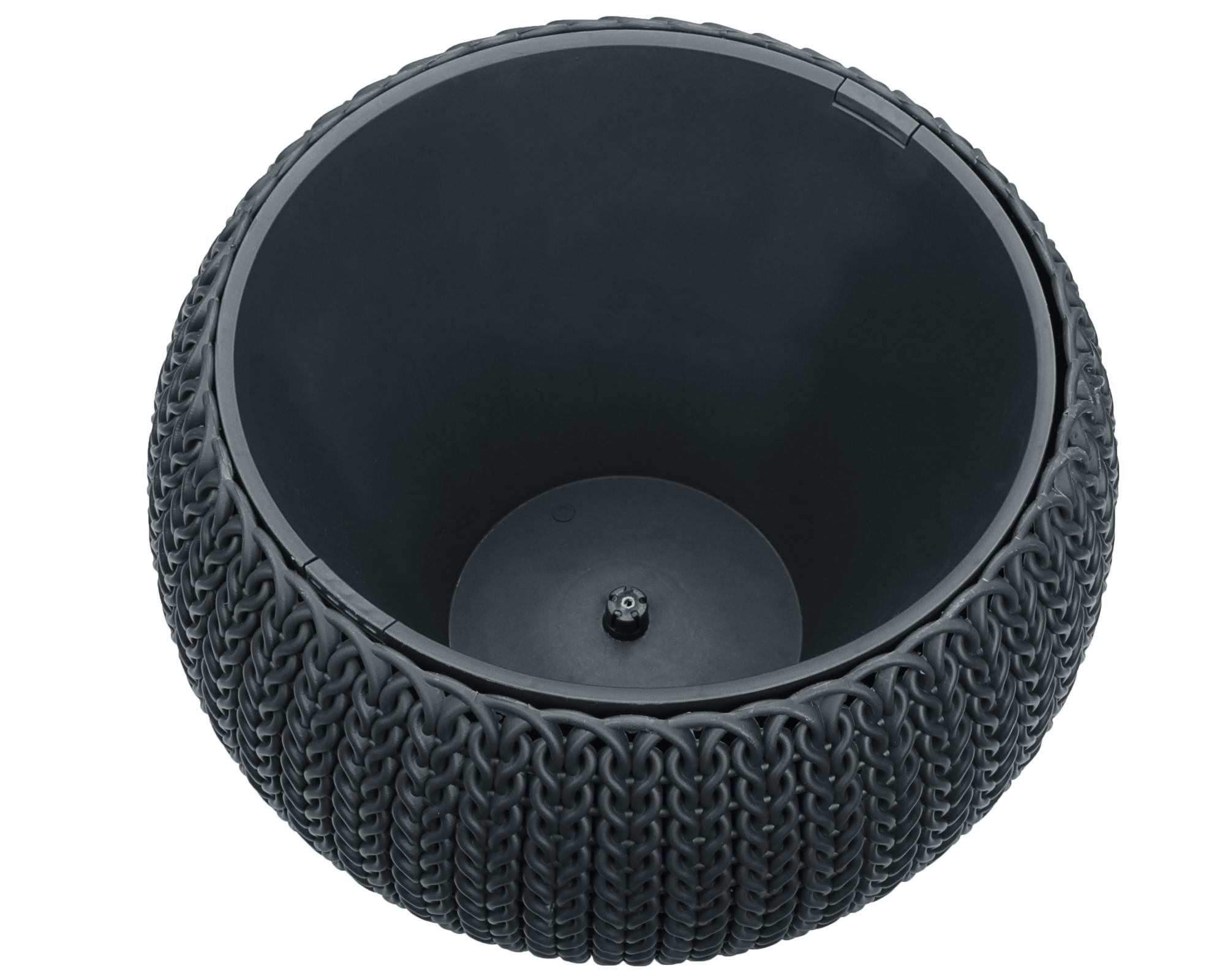 ondis24 h ngeampel blumentopf im strickdesign g nstig online kaufen. Black Bedroom Furniture Sets. Home Design Ideas