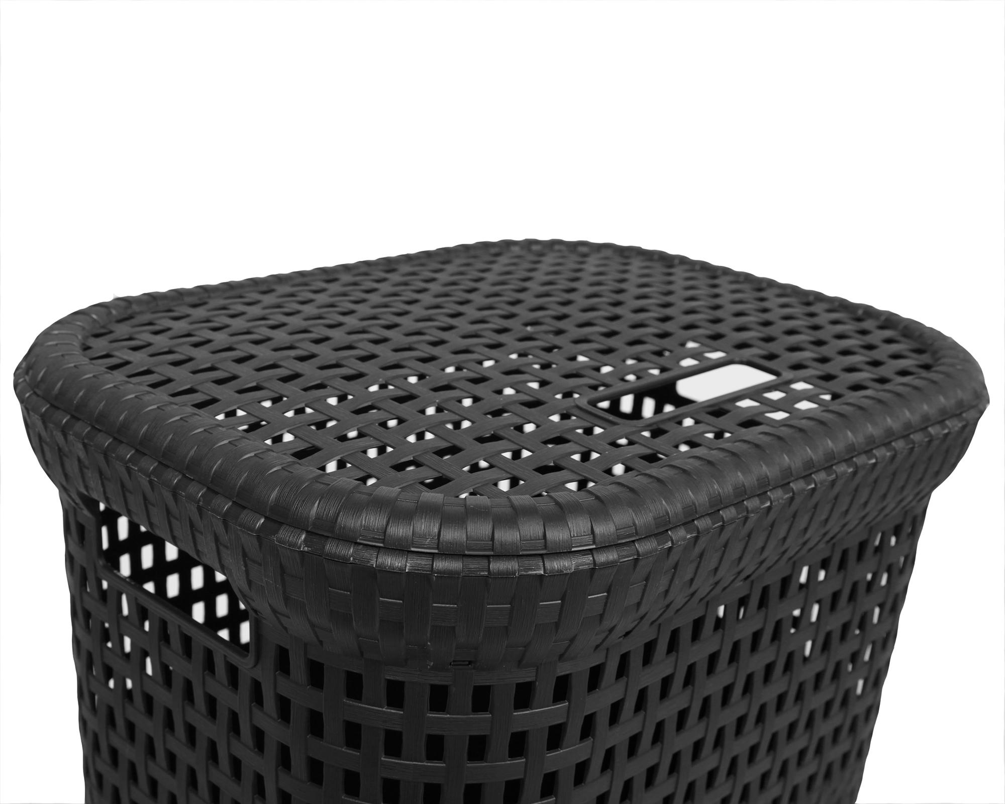 ondis24 w schekorb rattan 60 l anthrazit g nstig online kaufen. Black Bedroom Furniture Sets. Home Design Ideas