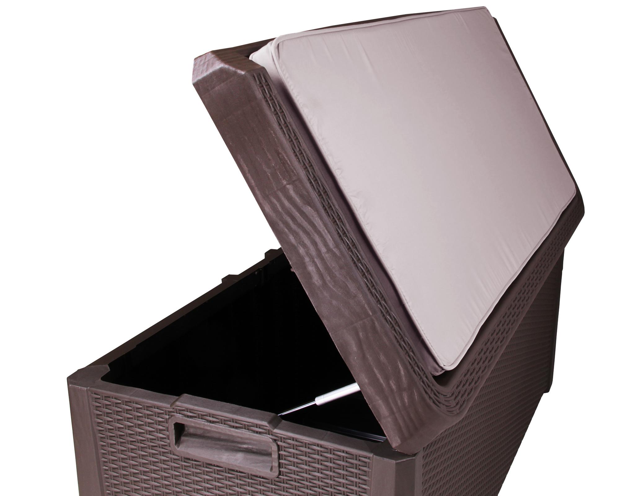 Gartenmobel Lounge Bequem : ONDIS24 Kissenbox Sitztruhe Santo Plus mit Auflage 560 L braun jetzt