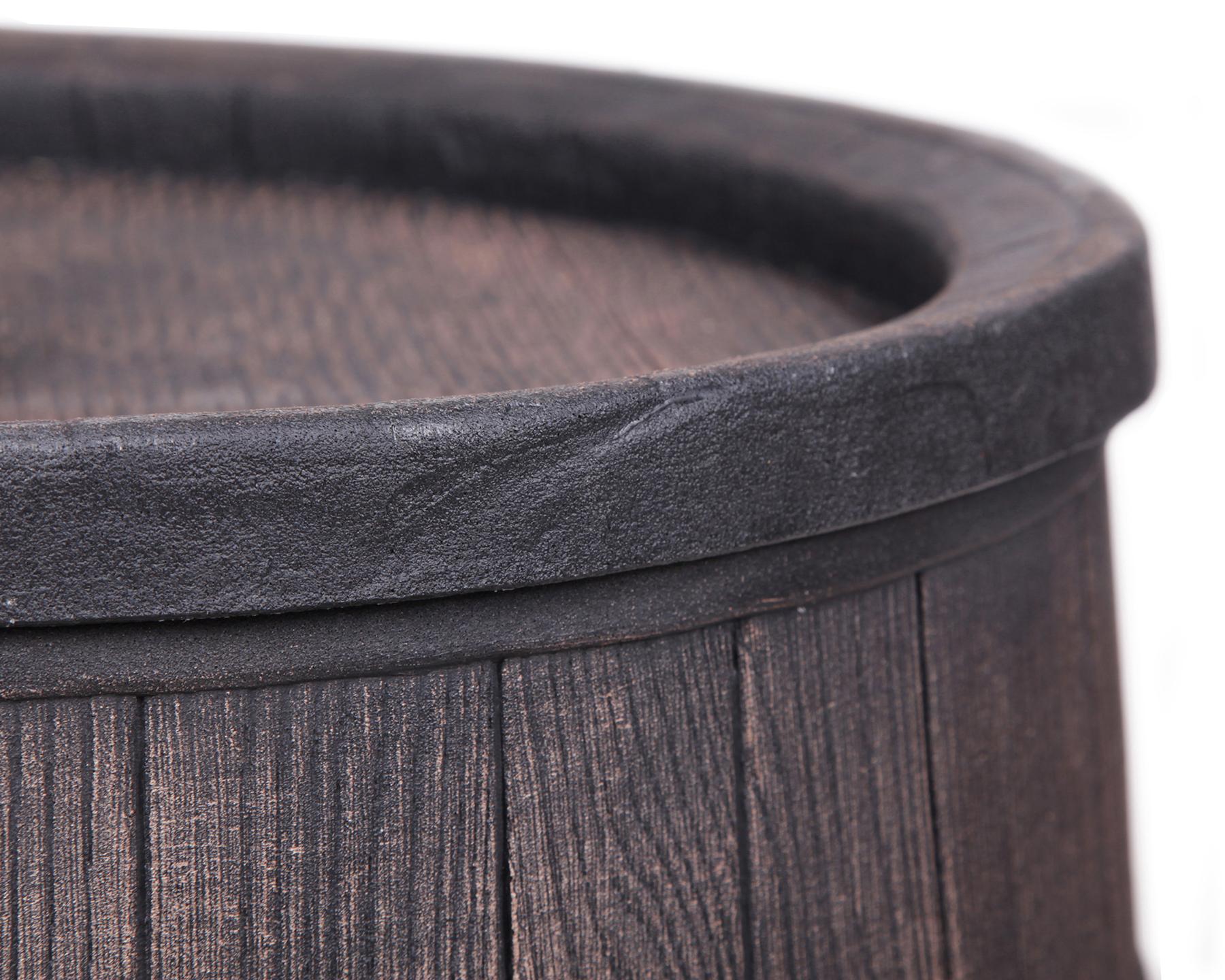 ondis24 regentonne 500 liter wasserbeh lter eichenfass. Black Bedroom Furniture Sets. Home Design Ideas