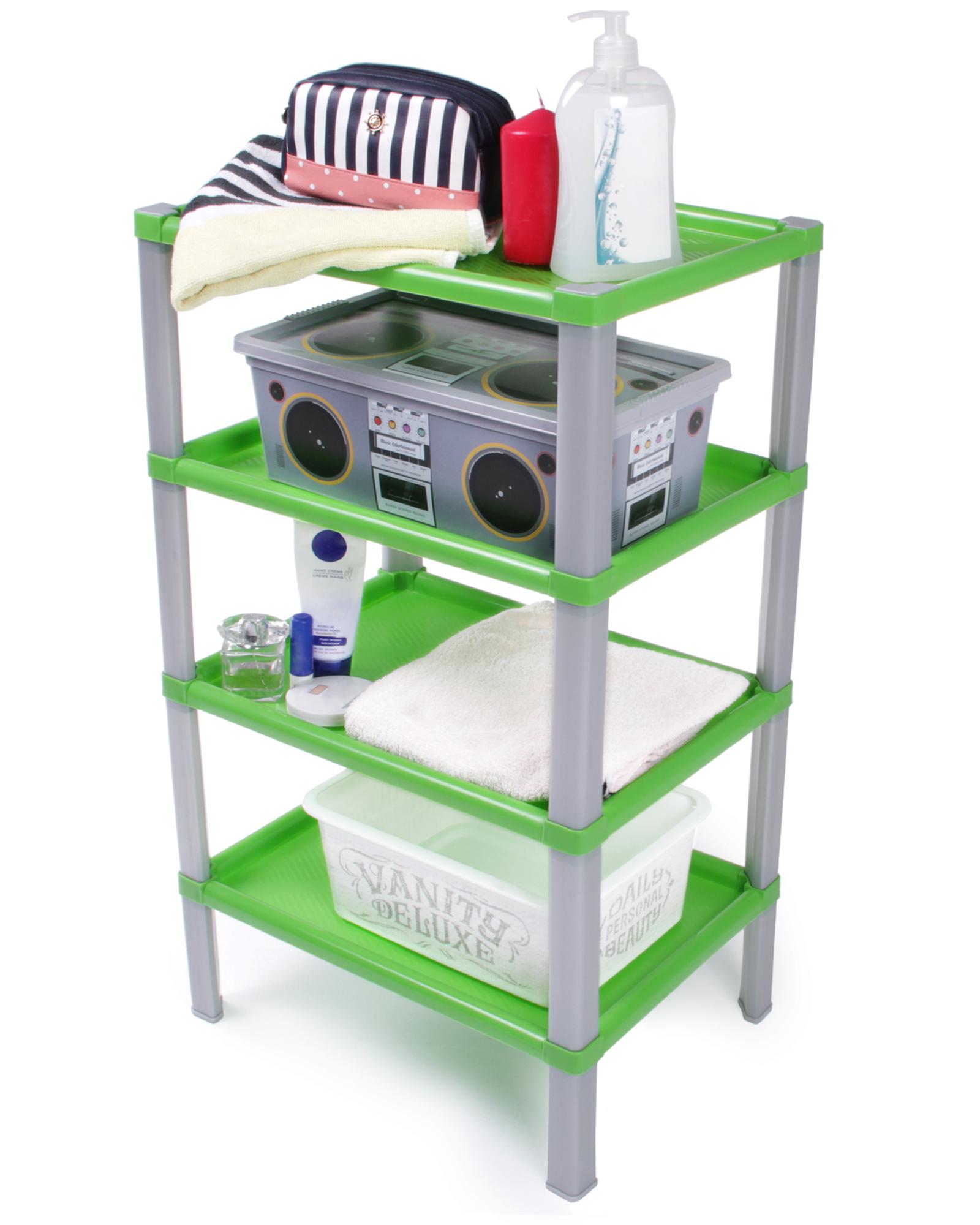 ondis24 regal kunststoff badregal scaf gr n g nstig online. Black Bedroom Furniture Sets. Home Design Ideas