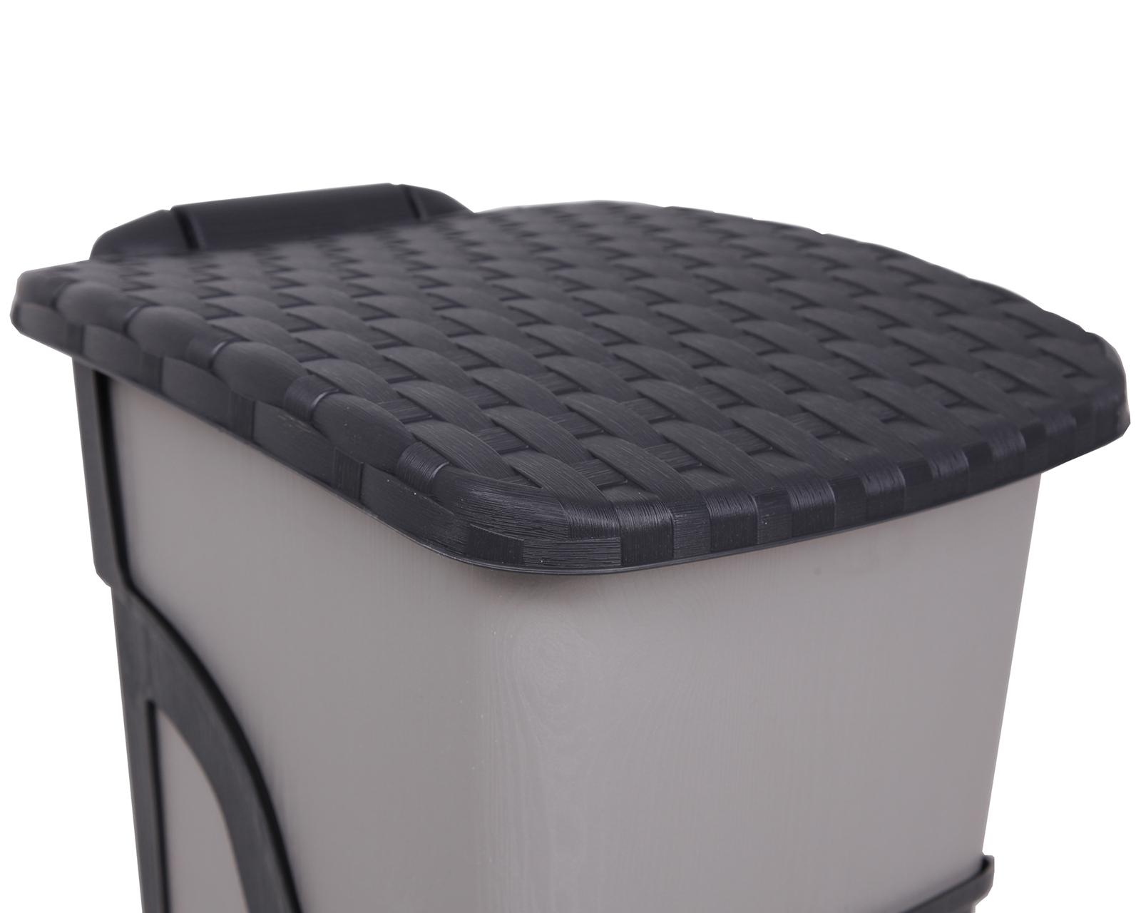 ondis24 m lleimer rattan 18 liter anthrazit g nstig online kaufen. Black Bedroom Furniture Sets. Home Design Ideas