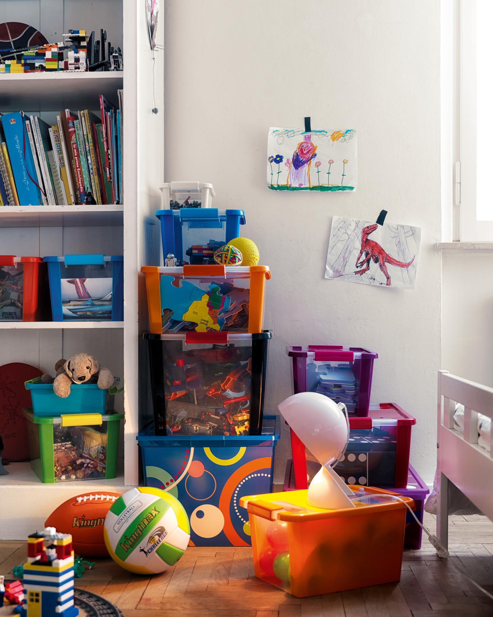 ondis24 aufbewahrungsbox klipp box l schwarz rot g nstig online kaufen. Black Bedroom Furniture Sets. Home Design Ideas