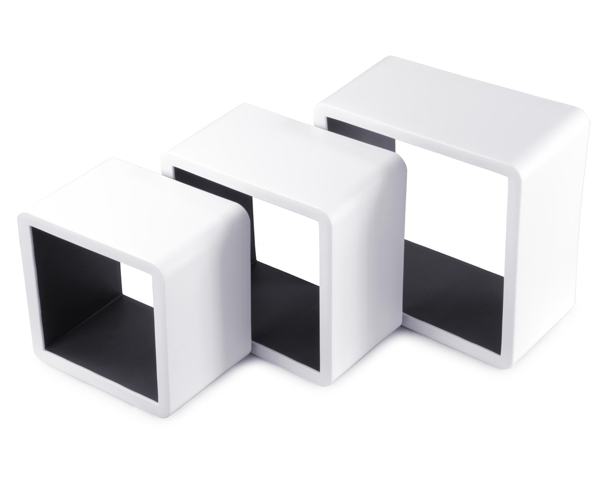 ondis24 regal wandregal 3er set b cherregal wandrahmen. Black Bedroom Furniture Sets. Home Design Ideas