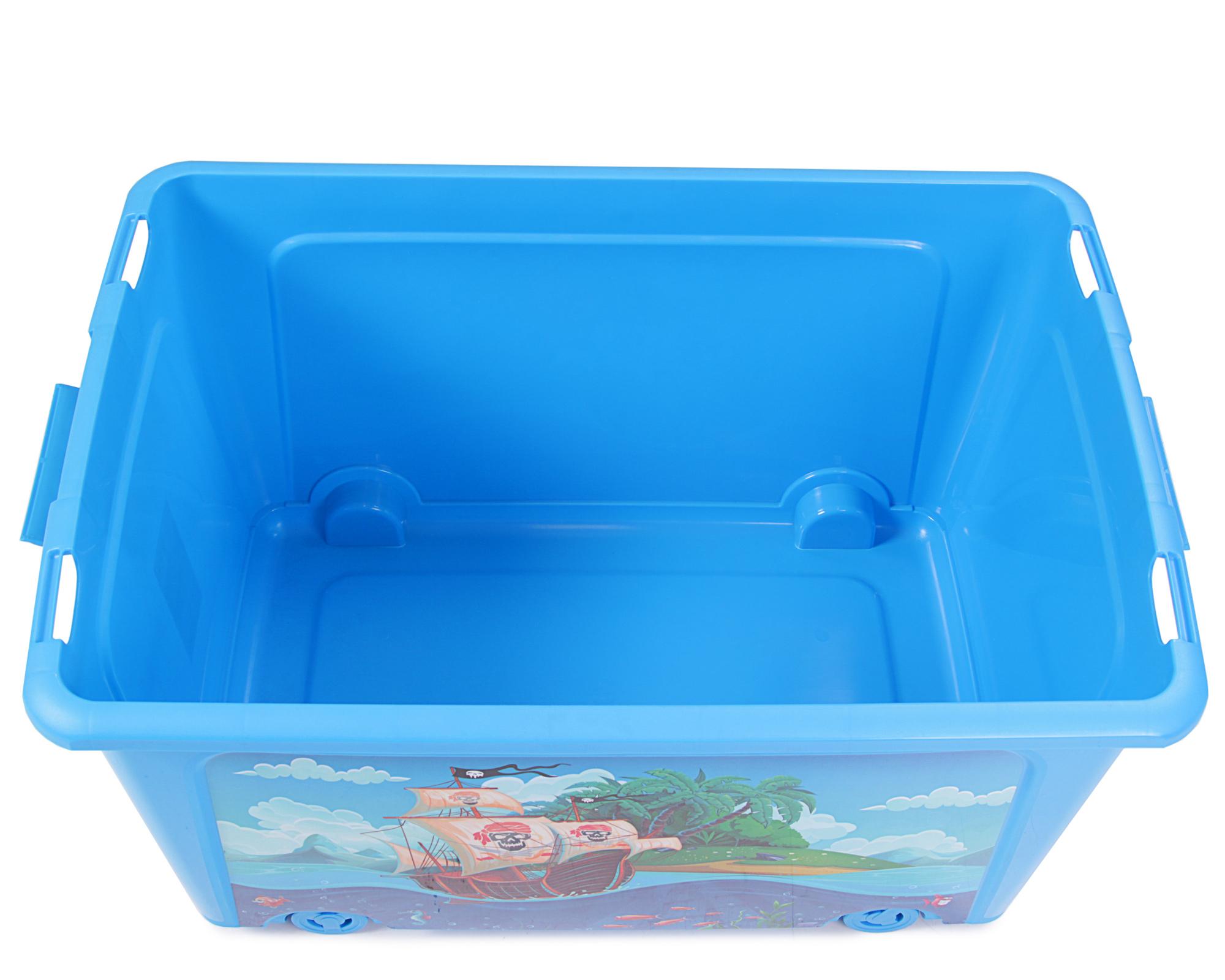 Ondis24 Spielzeugaufbewahrungsbox Spielzeugkiste Aufbewahrungsbox Spielzeugbox Spielzeugtruhe Pirat