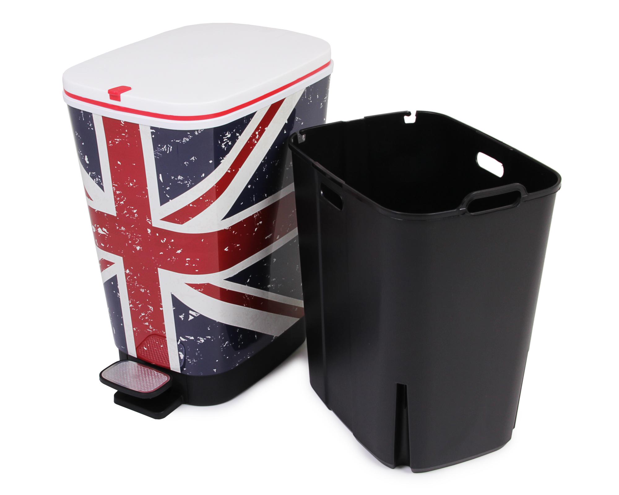 ondis24 abfalleimer m lleimer chic uk flagge 25 liter. Black Bedroom Furniture Sets. Home Design Ideas